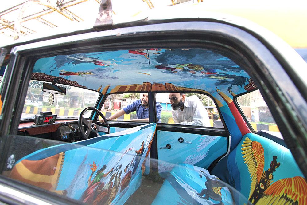 транспорт Индии, такси Индии, тюнинг такси, окраска салона автомобиля, дизайн салона автомобиля-2