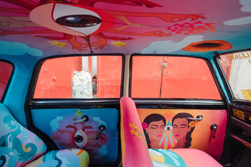 транспорт Индии, такси Индии, тюнинг такси, окраска салона автомобиля, дизайн салона автомобиля-9