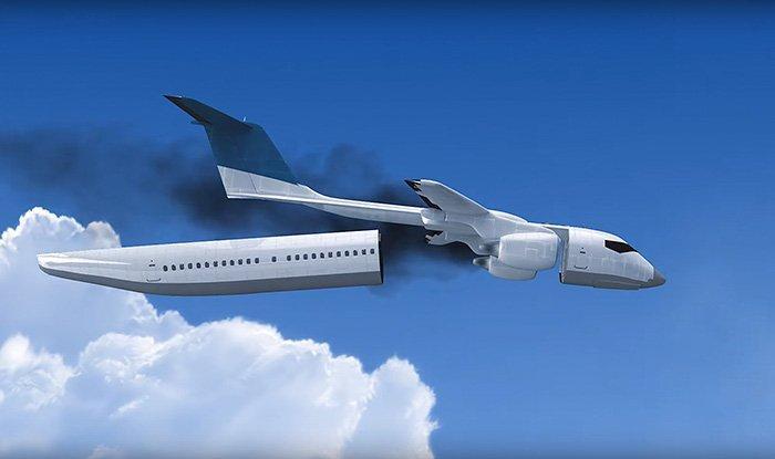 «Выжить в авиакатастрофе вполне вероятно», — заявляет изобретатель.