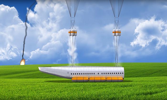 Следовательно, пассажиры имеют все шансы благоприятно приземлиться на территорию земли или на воде.