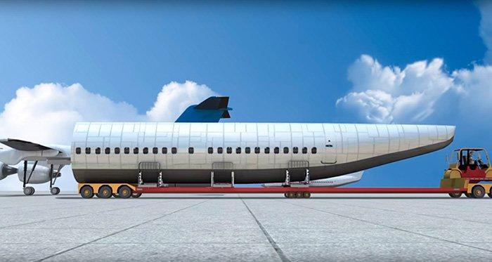 Кабину можно отсоединить и выбросить через задний лючок в хвостовой доли самолета в период взлета, полета или же высадки