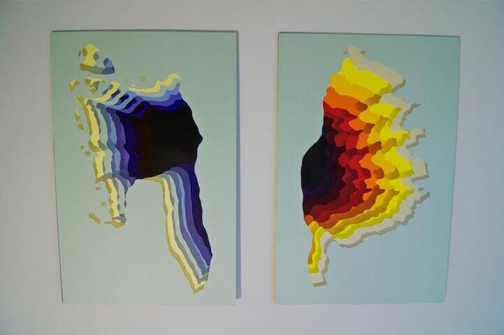 2D рисунки на стене
