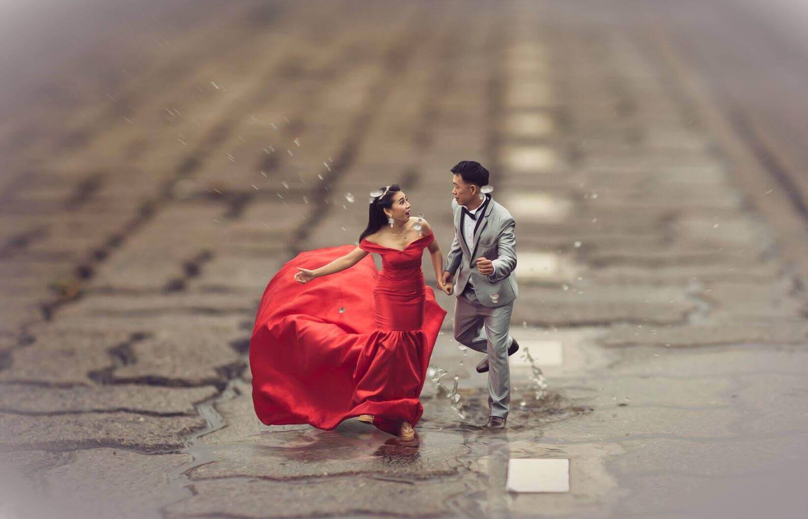 Свадебные Пары - крошечные люди
