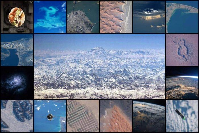 Вид на планету Земля сверху: Экспедиция 47 на борту МКС