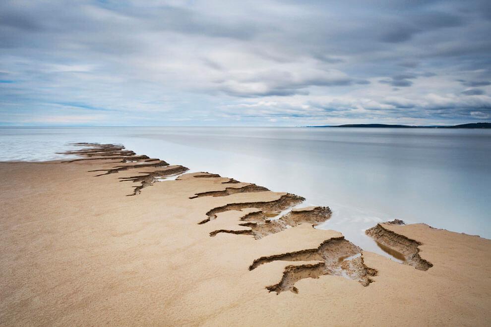 Зыбучие пески, снимок сделан в Силвердейл, Ланкашир, получил награду «Your View»