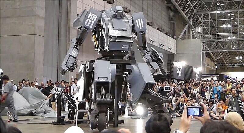 японский боевой робот kuratas