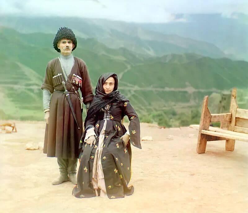Супружеская чета, Дагестан. Между 1905-1915 гг.