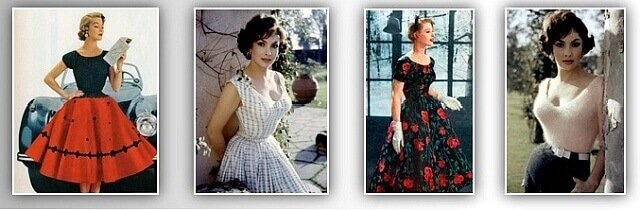 одежда 1920-1980 гг