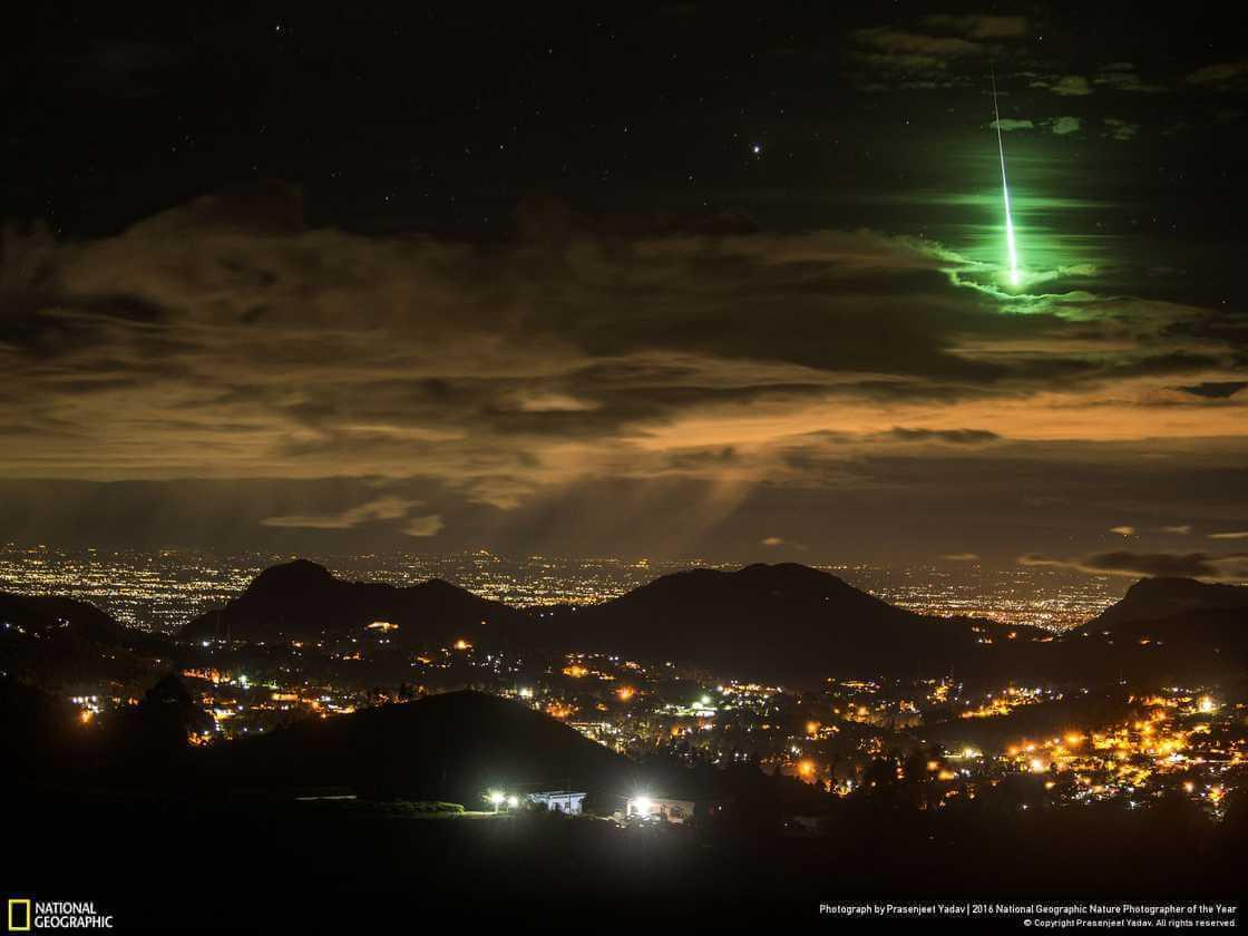 южная Индия, Зеленый метеор