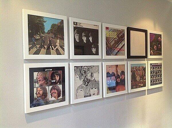 рамки для фотографий из виниловых пластинок