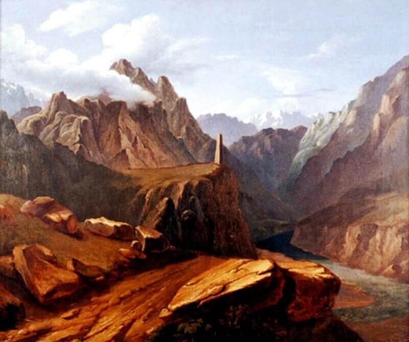 Кавказский вид возле селения Сиони
