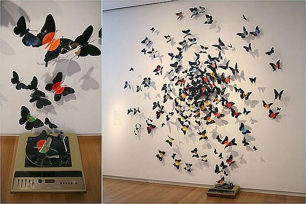 Бабочки своими руками из пластинок 27