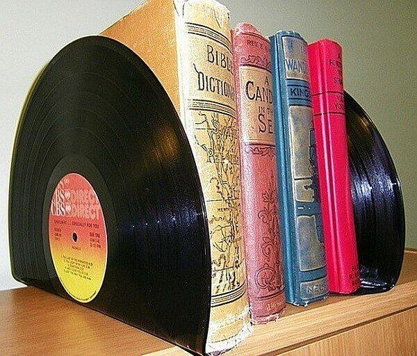 подставки для книг и журналов из виниловых пластинок