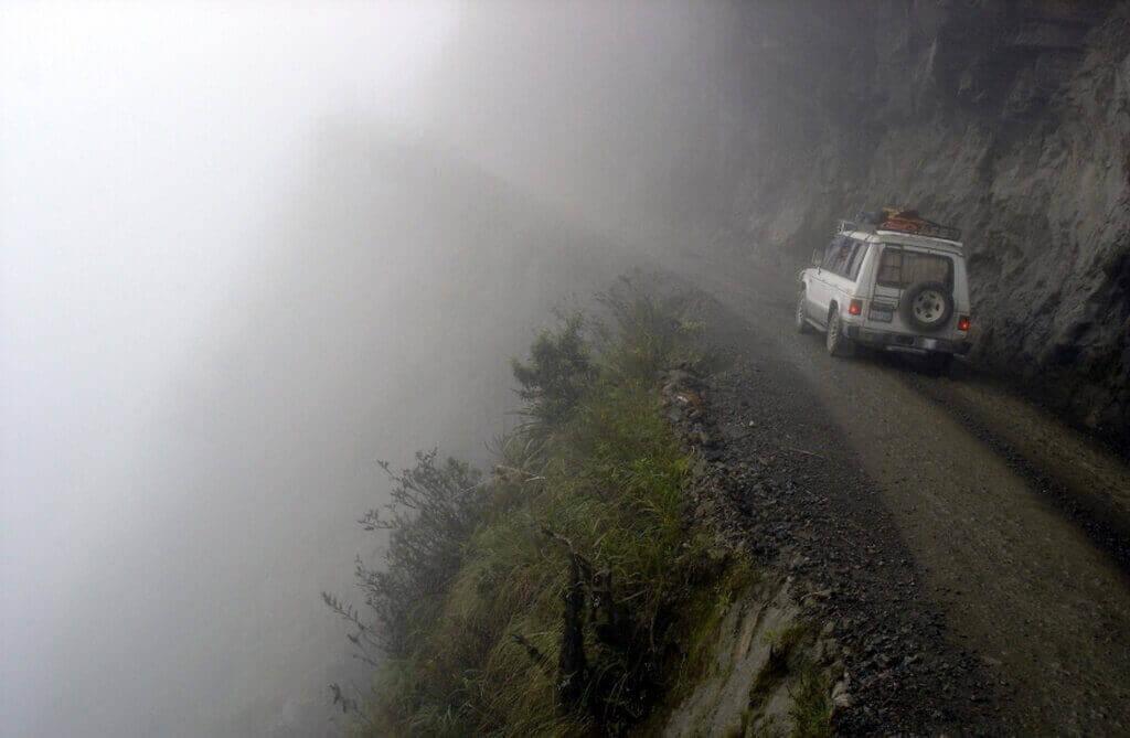 Дорога Юнгас. Боливия