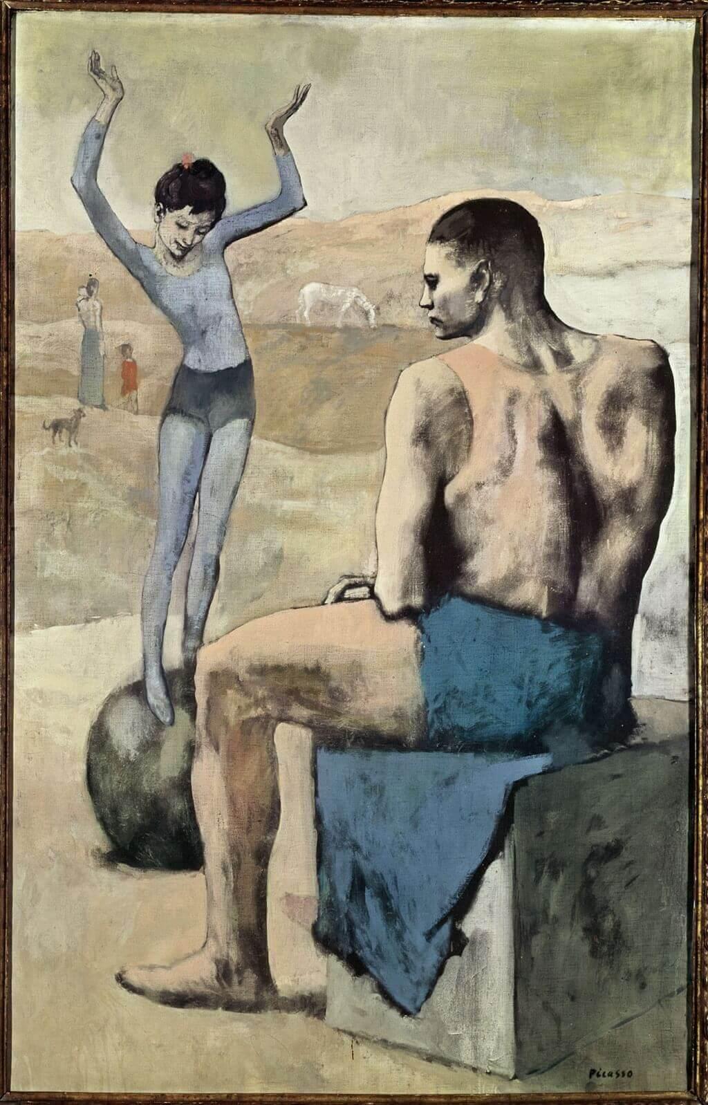 Девочка на шаре, Пабло Пикассо