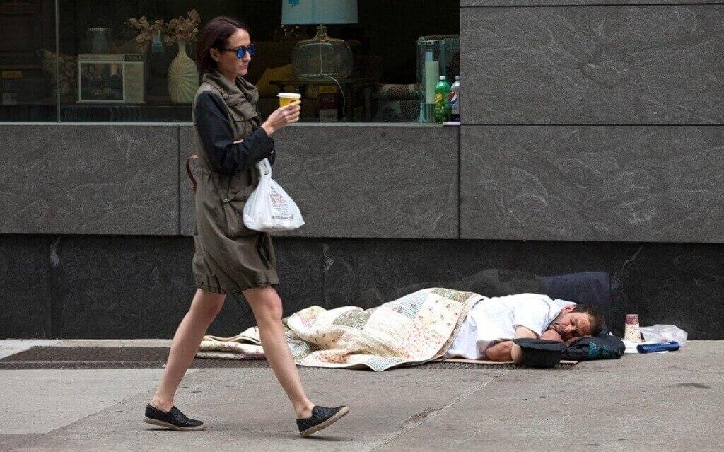 бездомные в Нью-Йорке