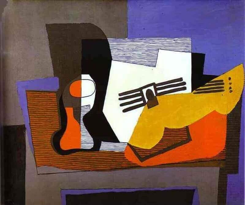 Гитара на камине, Пабло Пикассо