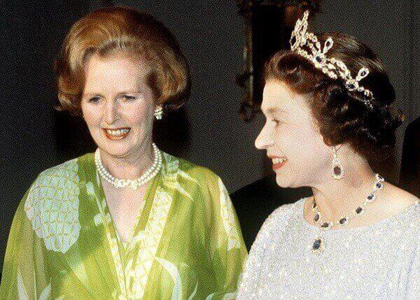 Маргарет Тэтчер и Королева Елизавета II