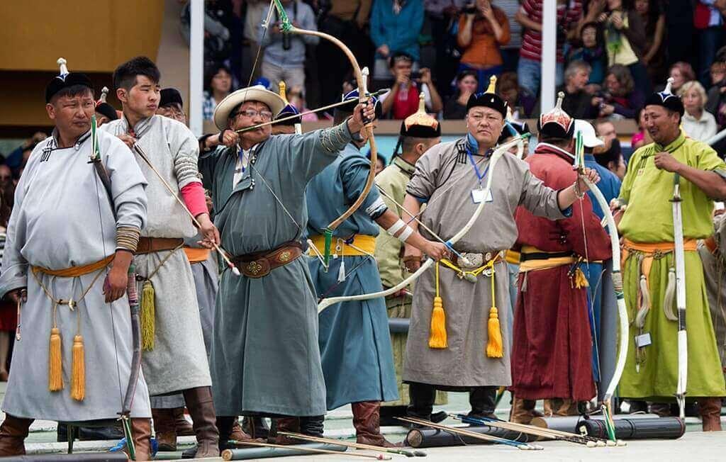 стрельба из лука, монголия