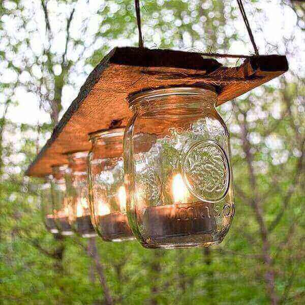 деревянный светильник своими руками с банками