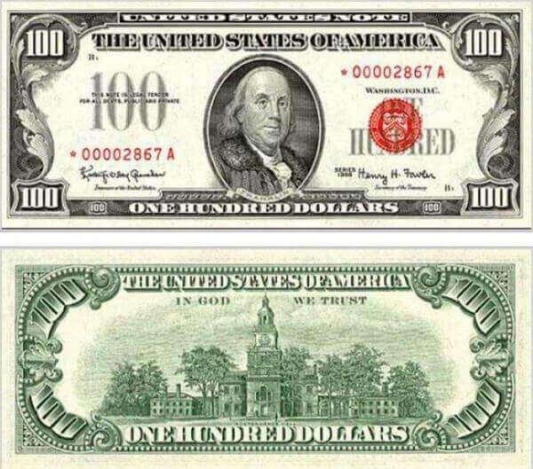 стодолларовая банкнота