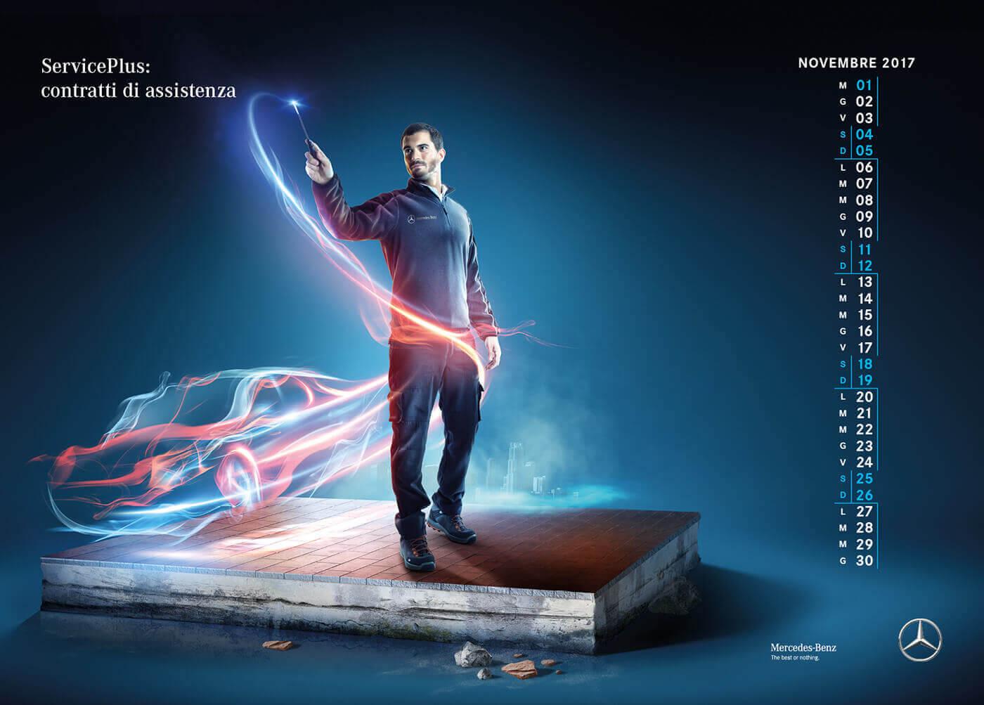 календарь Mercedes Benz