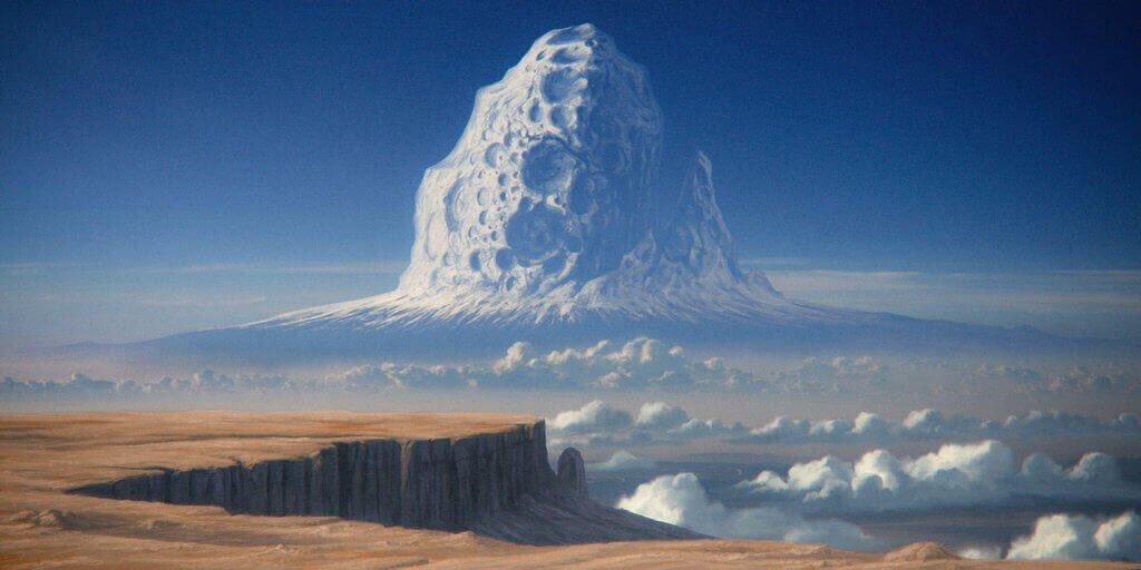 Гора, образованная астероидом