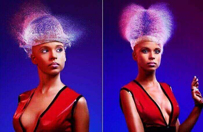 водяной парик женщины