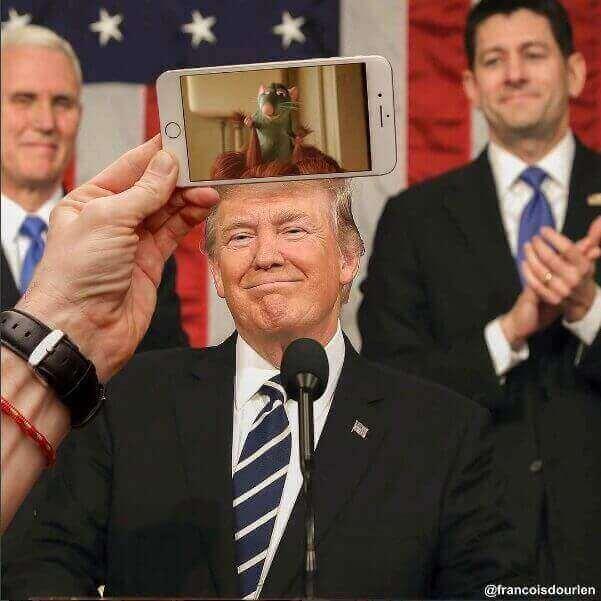 мультики на фото - Франсуа Дурлен ( Donald Trump)