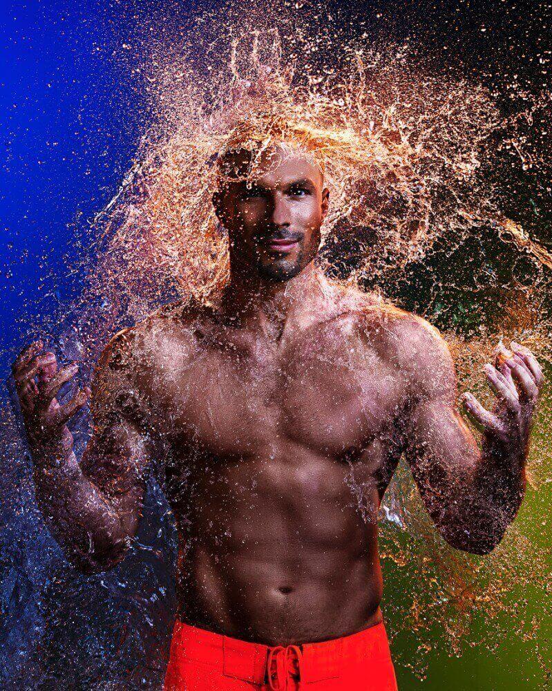 водяной парик для мужчин