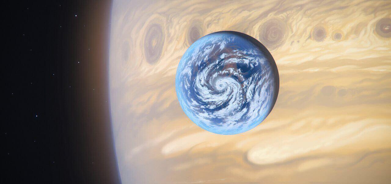 Луна, похожая на Землю