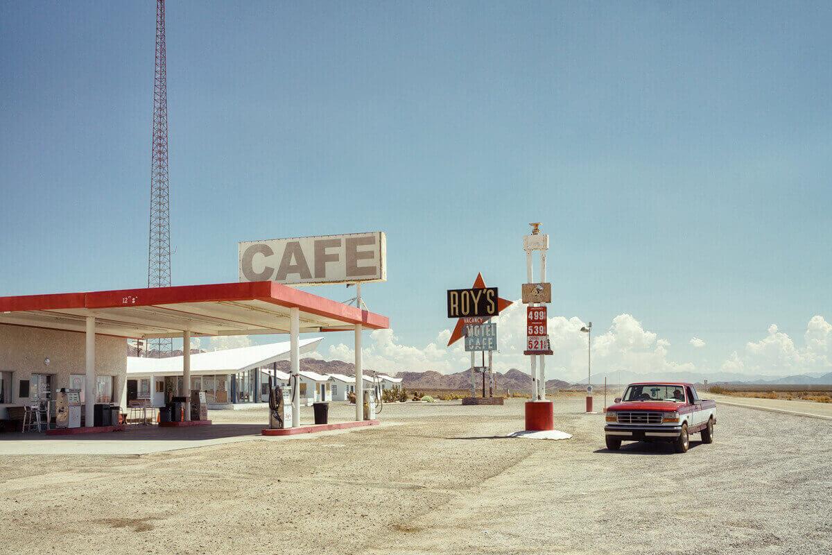 заправка и мотель в Эмбой, Калифорния - на исторической трассе 66