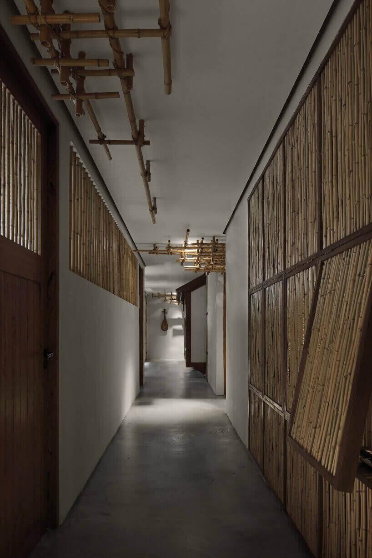 бамбуковый ресторан в Китае
