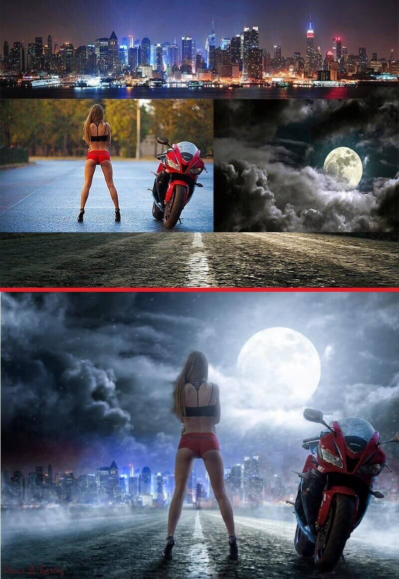 Денис Барлог - ночная прогулка на мотоцикле