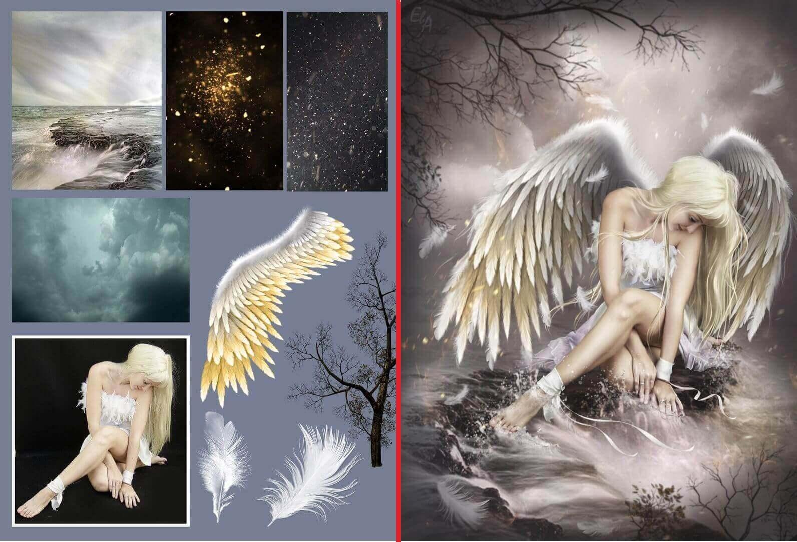 девушка-ангел от Евгении Алексеевой