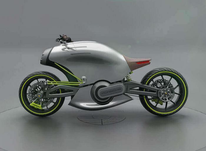 Концепт электромотоцикла: модель Porsche 618