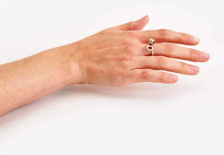 оригинальные кольца с цветами