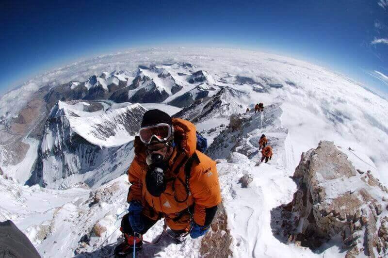 селфи на Эвересте