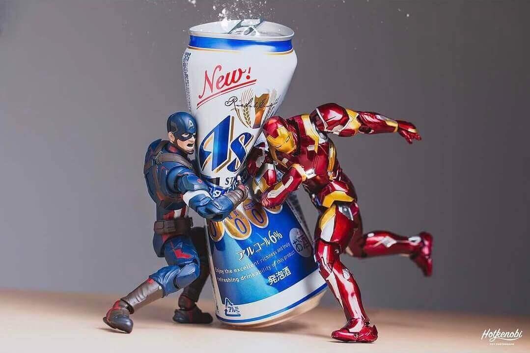железный человек против Бутылки пива