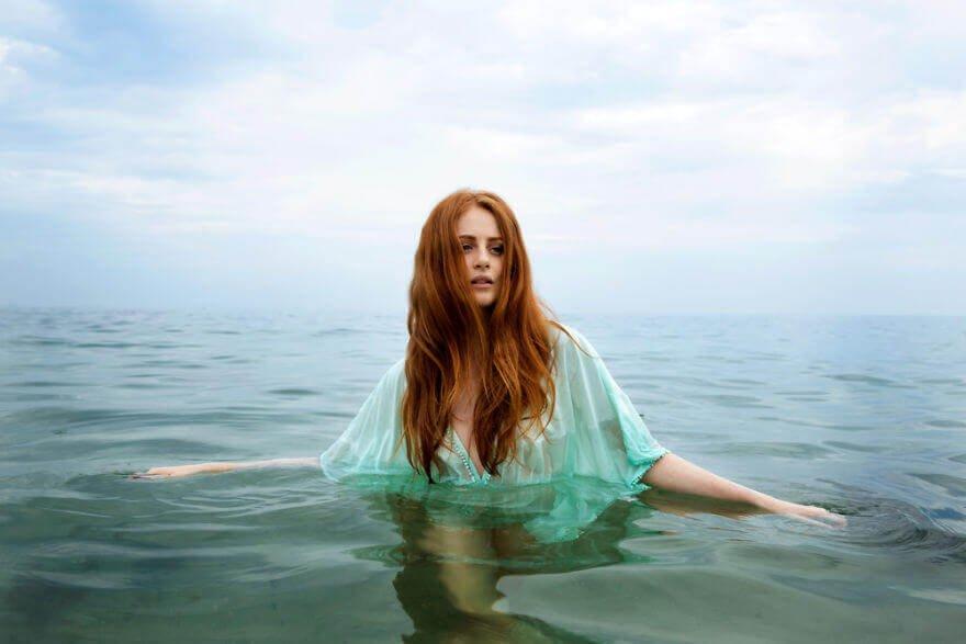 Побережье Одессы, Алиша купается