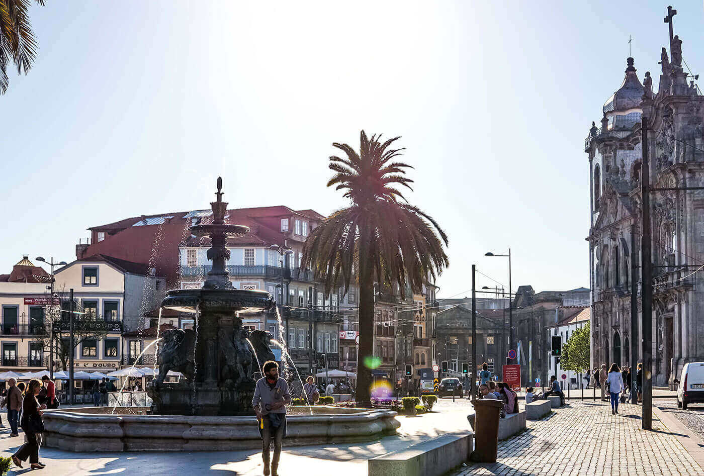 Город Порту в Португалии