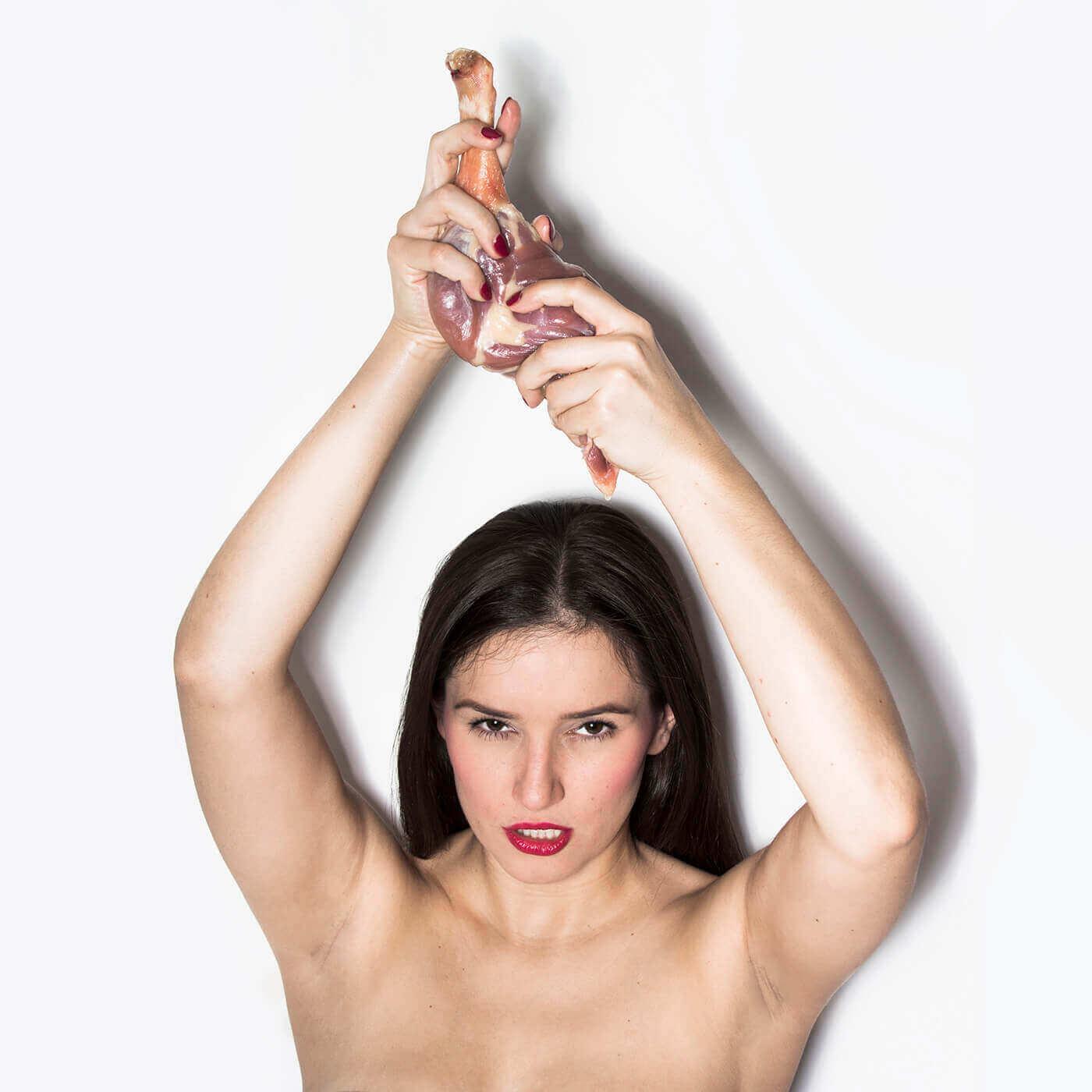 Модель и мясо