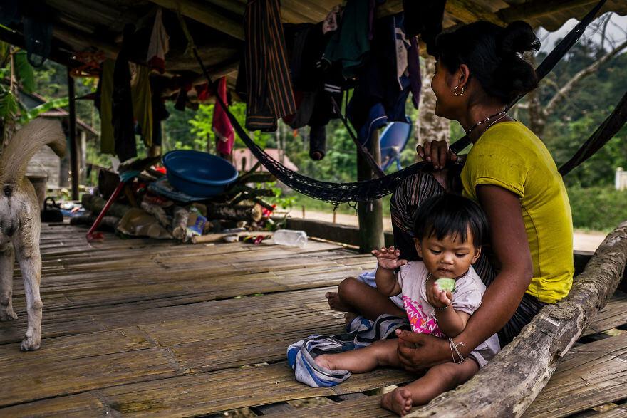 Время обеда в общине Вьетнама