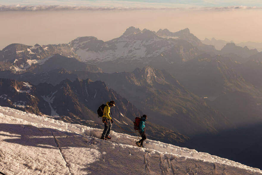 фото горы Монблан в Шамони