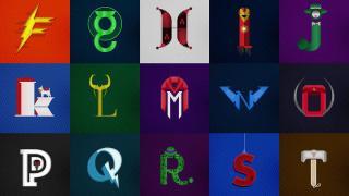 иллюстрированный алфавит с супергероями