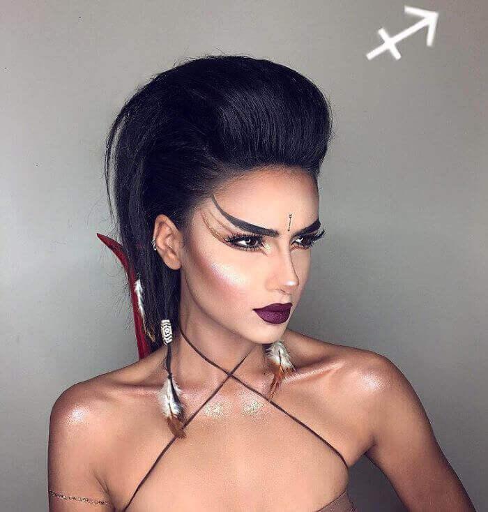 макияж зодиака Стрелец