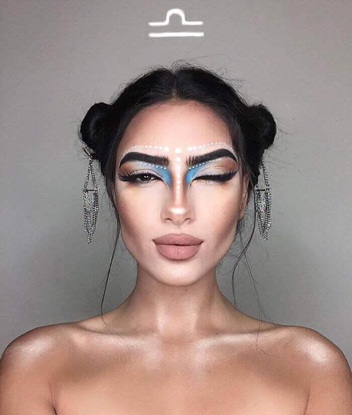 макияж зодиака Весы