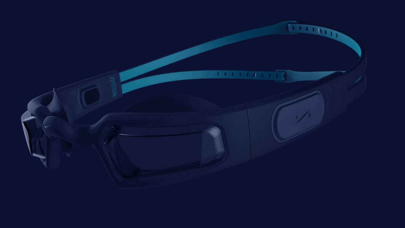 музыкальные очки для плавания Nike+