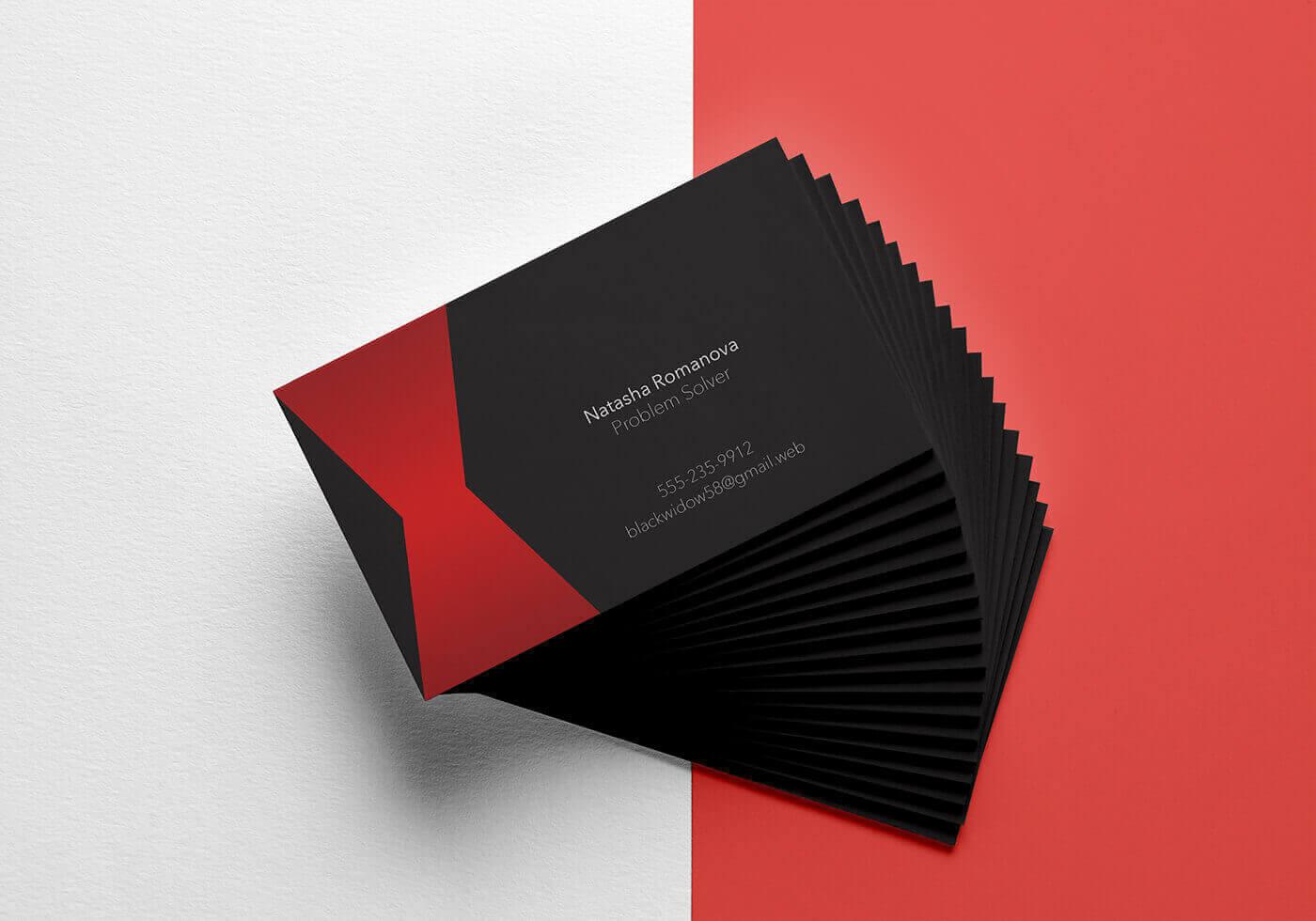 Наташа Романова (Черная Вдова) визитная карточка