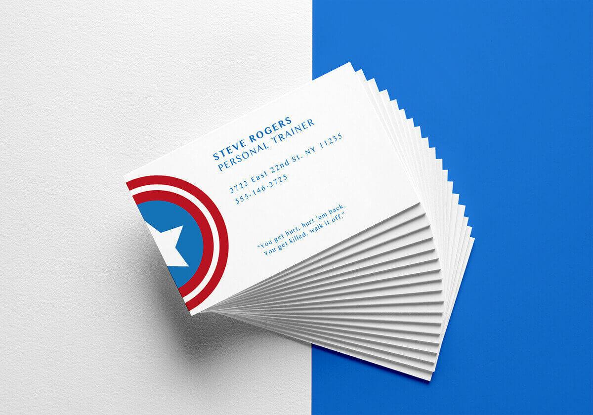 Стив Роджерс (Капитан Америка) визитная карточка
